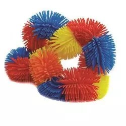 Tangle Hairy junior geel, oranje, rood, blauw