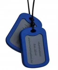 Munchables Dog Tags blauw