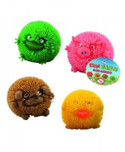 Fluffy Farm Puffer Bal stressbal/friemelspeelgoed