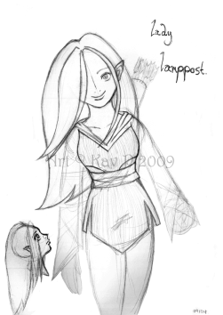 Lady Lamppost Sketch (2009)