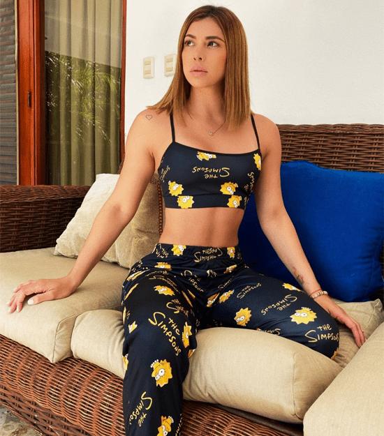 Simpsons-pijama-topy pantalónparamujer-womenpajama-sleepwear-nightwear-pijama