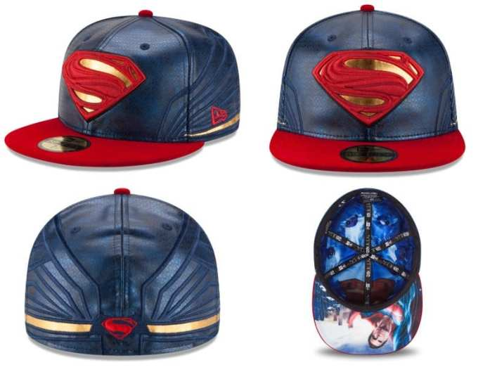 Batman v Superman Dawn of Justice Character Armor 59Fifty Fitted Hat Collection by New Era - Superman