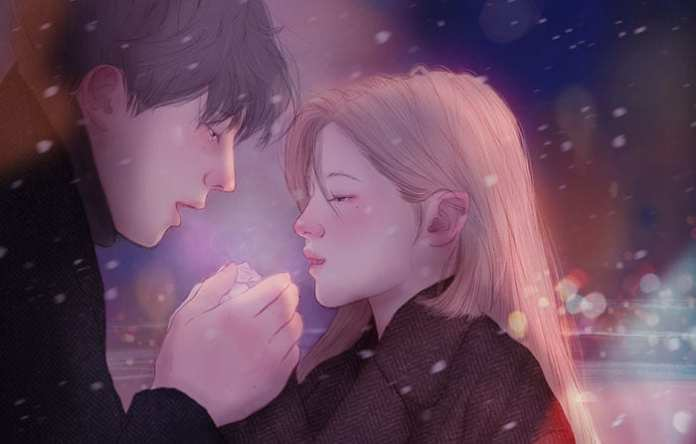 what is love jeong hyocheon hands warm illustration