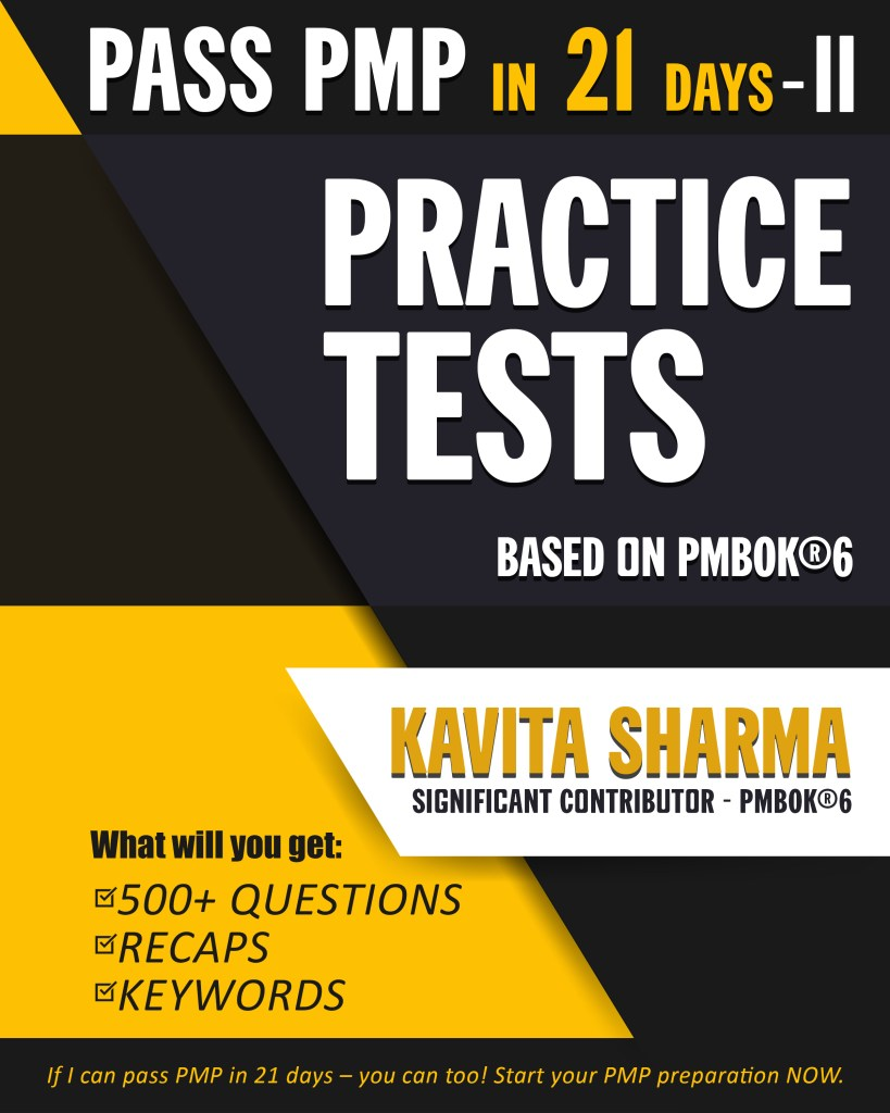 Book: Pass PMP in 21 Days – Practice Tests