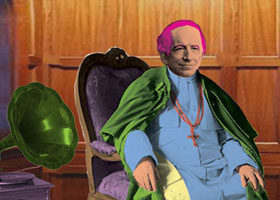 Portrait of Pope Pius X Sitting in Chair
