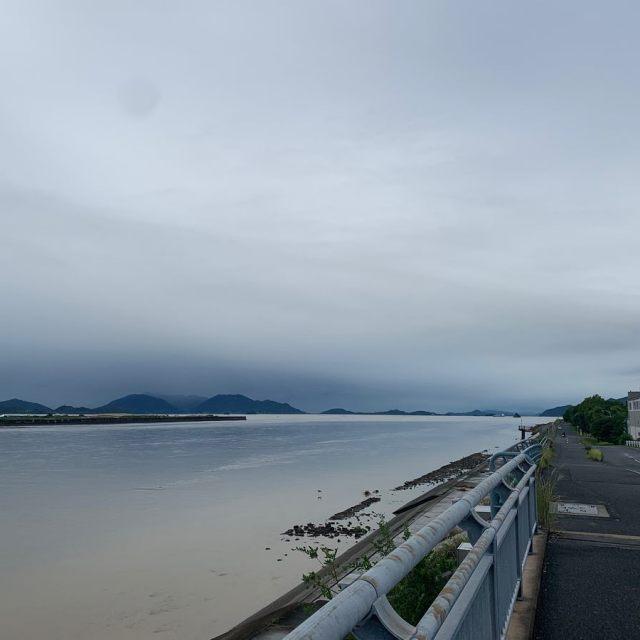朝ラン5km。長雨あがりましたね。ひとまずヤマは越えたようね。#朝ラン