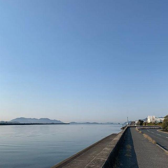 朝ラン5km。ごっつぁんです。#唄うたいカワムラ