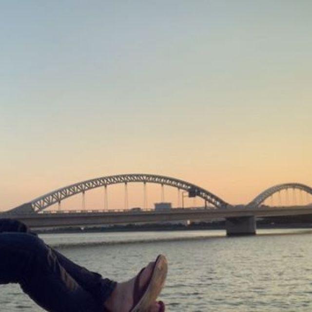 バンジョーウクレレ、気持ちよか。#唄うたいカワムラ #川辺deウクレレ