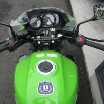 カワサキ ZRX1200 DAEG ファイナルエディション ライムグリーン タンク、メーター、ハンドル