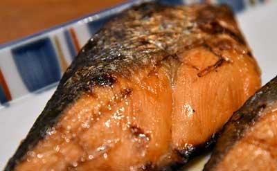 焼き魚完成