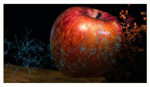 ファンタスティックとピクセルで表現された、林檎