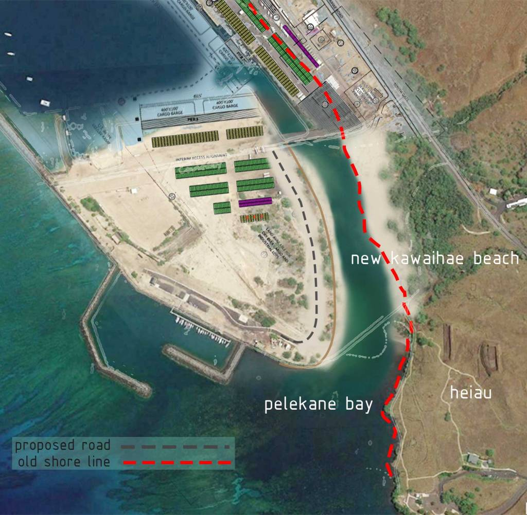 new kawaihae beach and circulation channel concept