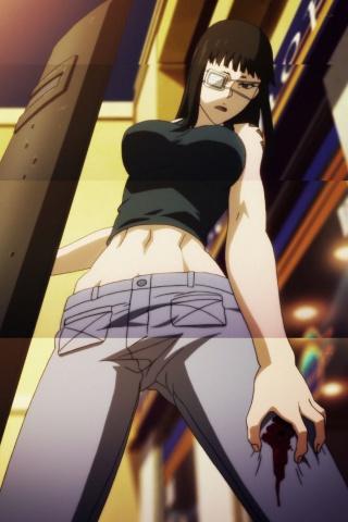 Anime Ipod Wallpapers Jormungand Valmet Sofia Velmer 320x480 2