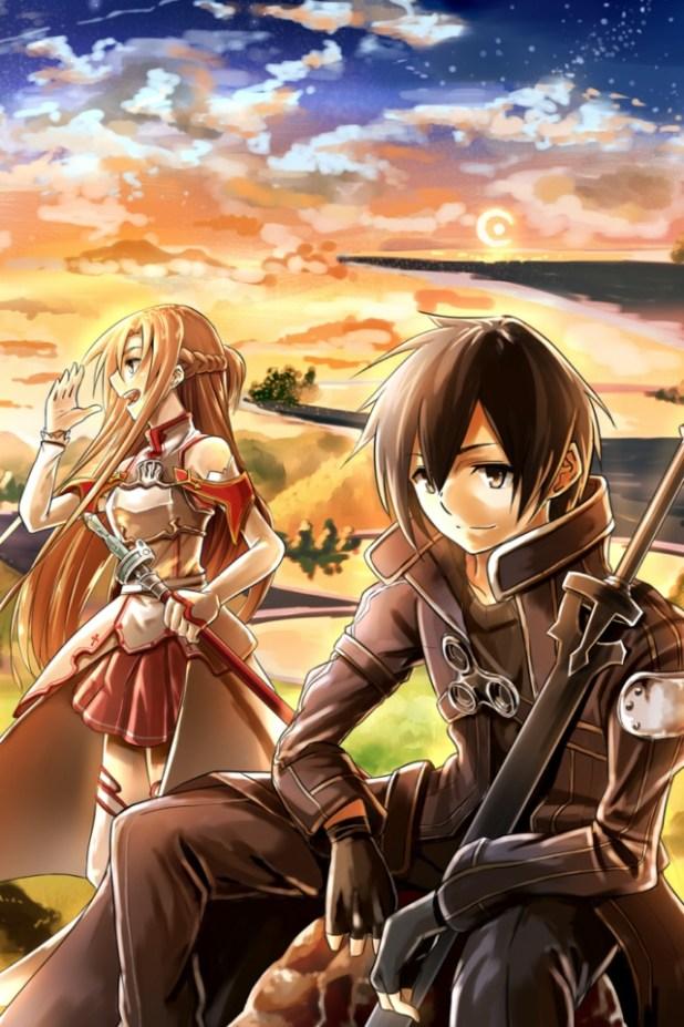 Sword Art Online Kirito Iphone 4 Wallpaper Asuna 640x960 5