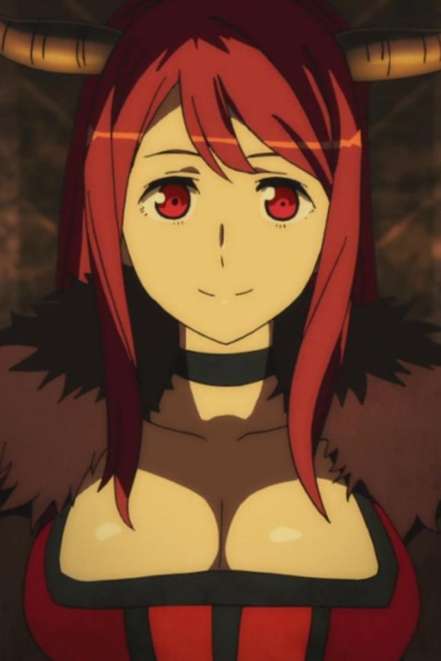 Ecchi Anime Demon Girl Wallpaper Android Maoyuu Maou Yuusha Mao Demon King Iphone 4 Wallpaper 640x960