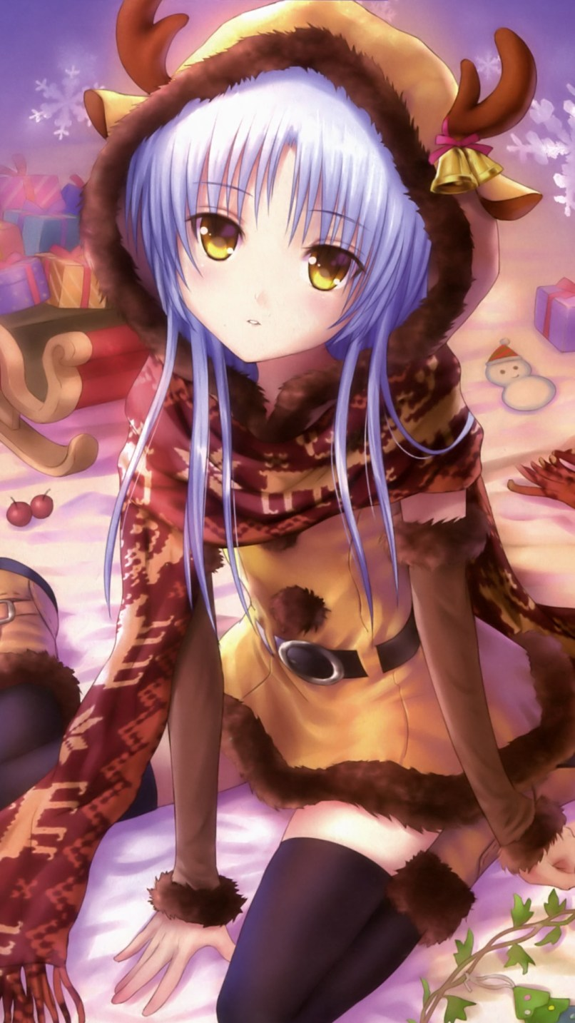 Christmas Anime Wallpapers For Iphone Android And Smartphones Free Cool Angel Beats