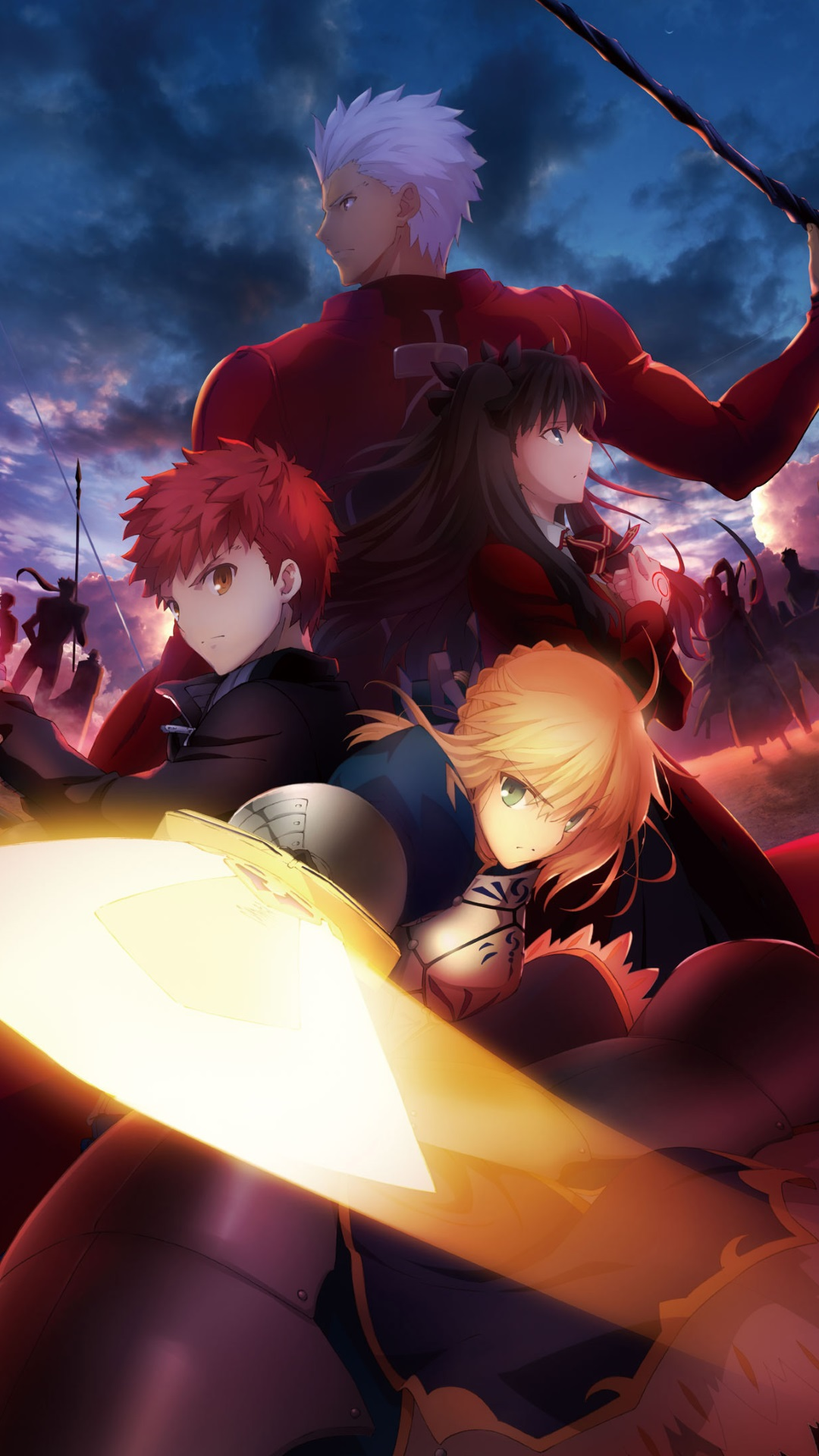 Iphone X Liquid Wallpaper Fate Stay Night Unlimited Blade Works 1080x1920
