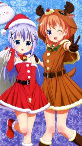 Girls Und Panzer Saori Phone Wallpaper Christmas 2017 Anime Phone Wallpapers