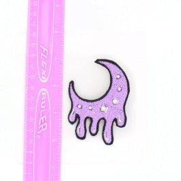 Pastel Goth Lolita Kawaii Dripping Moon Hair Clip
