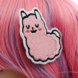Pink Llama Hair Clips