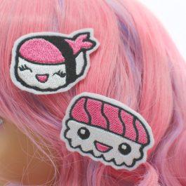 Kawaii Sushi Hair Clips Set of 2
