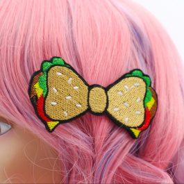 Kawaii Hamburger Hair Bow For Girls