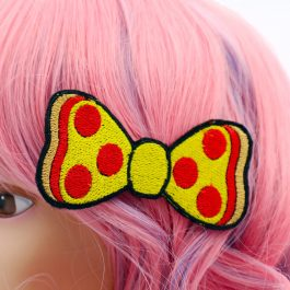 Pizza Hair Bow For Girls
