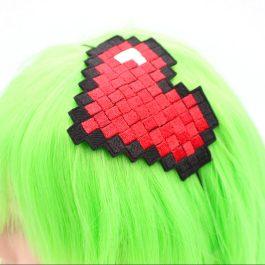 8 Bit Heart Pixel Headband