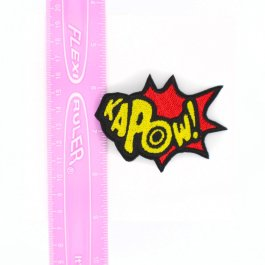Superhero Bow Kapow! Comic Book Hair Clip – Red and Yellow
