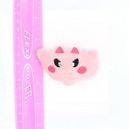 Kawaii Bat Plush Hair Clip – Pink