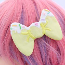 Hair Bows For Girls – Super Cute Kawaii Hair Clips -Yellow