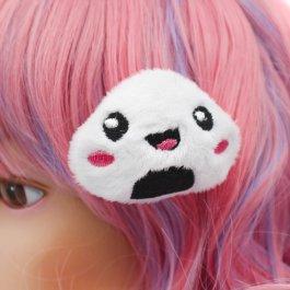 Kawaii Onigri Plush Hair Clip