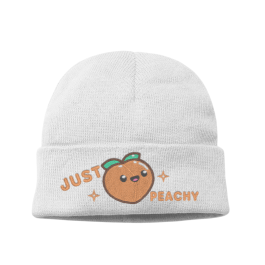 Just Peachy Kawaii Knit Beanie Hat – Kawaii Peach Womens Winter Hat