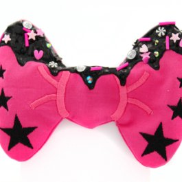 Frosted Decoden Rebel Girl Hair Bow