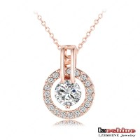 18K Rose Gold Plated Necklace And Earring Sets