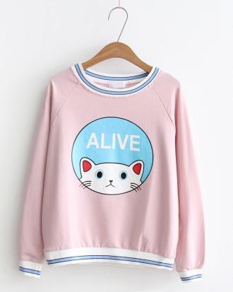 Cat Sweater Blue