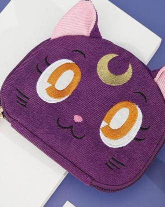 Sailor Moon-bolsa para guardar joyas de gato y Luna, bolsa de maquillaje de gran capacidad, para viaje, regalo de Navidad para chica