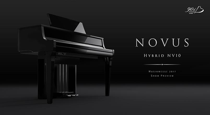 Este año nos presentan el piano digital híbrido: NOVUS NV10