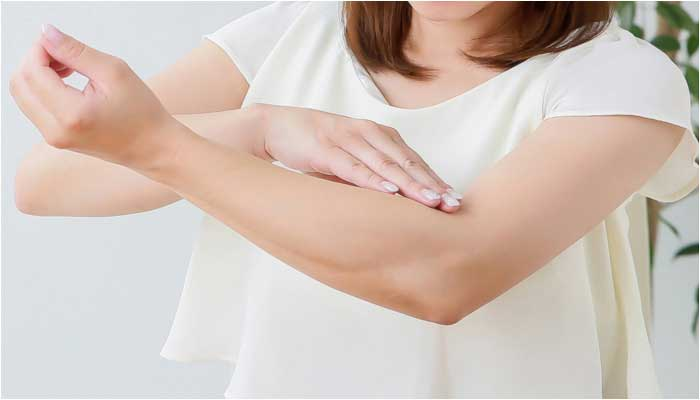 蕁麻疹の痒みイメージ画像