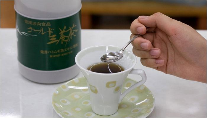 国産発芽ハトムギ ゴールド三養茶の画像