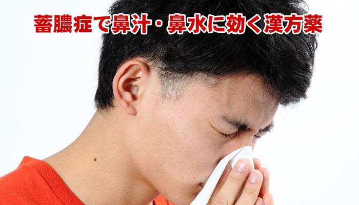 蓄膿症で鼻水が出る症状に効く漢方薬の処方例