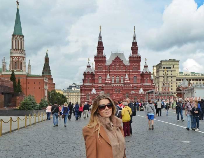 Praça Vermelha em Moscou na Rússia