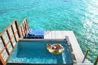 bangalô de luxo sobre as águas