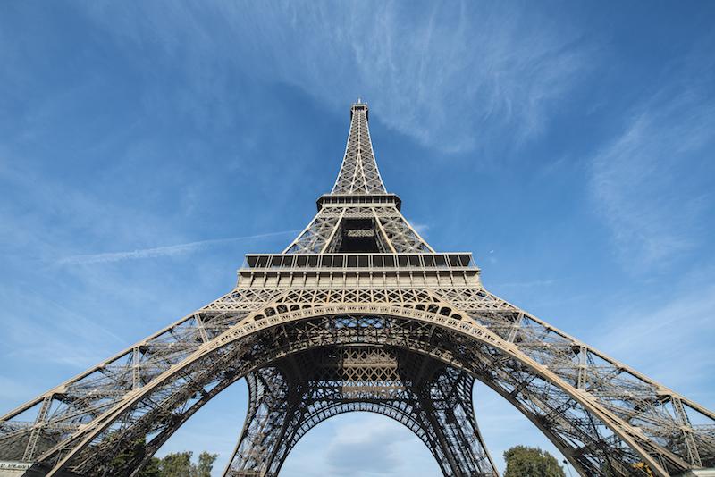 melhor angulo pra foto da Torre Eiffel