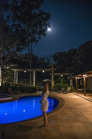 Noite de lua cheia na Pousada Oratório
