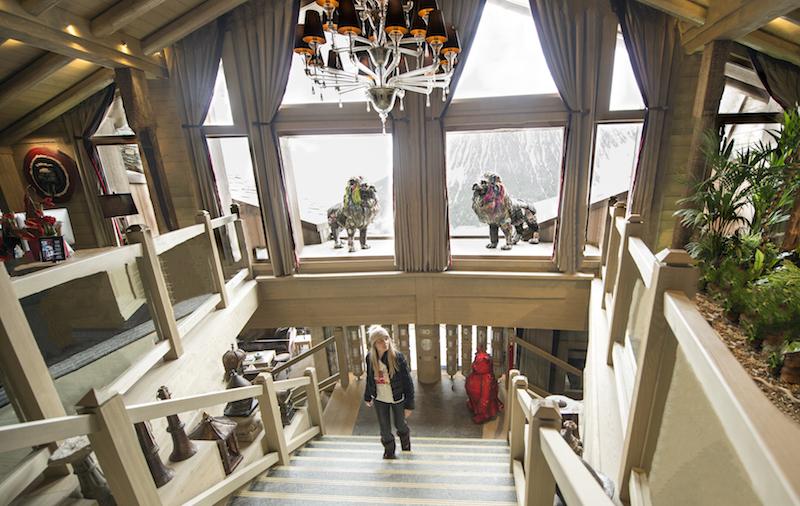 Hotel de luxo nos Alpes da França