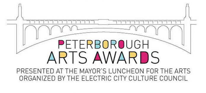 The inaugural Peterborough Arts Awards will be presented during the Mayor's Luncheon for the Arts on May 25, 2018. (Graphic: Electric City Culture Council)