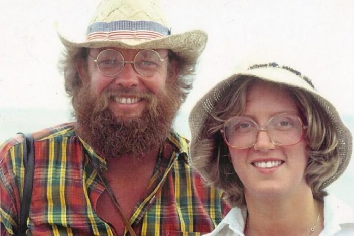 The late Liz Bierk with her husband, the late renowned artist David Bierk, in an undated photo. Liz and Su Ditta conceived of the arts awards in 2005, a year before Liz passed away.