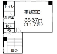 辰巳ビル3B-間取り図