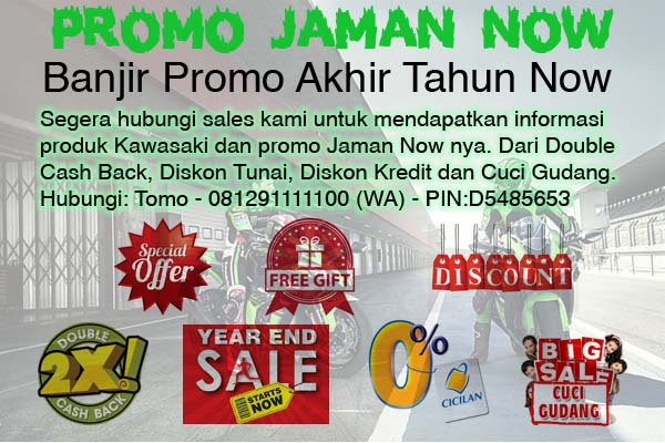 promo kawasaki Cuci Gudang Diskon kredit dan Cash back